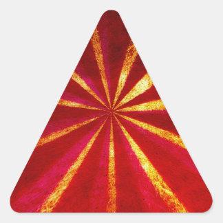 Grunge starburst triangle sticker