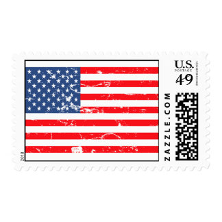 Grunge stars and stripes stamps