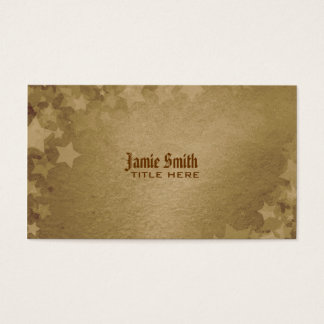 Grunge Stars Business Card