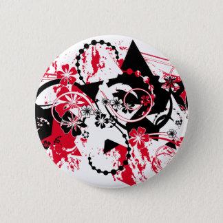 grunge stars button