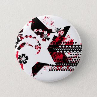 grunge stars pinback button