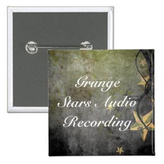 Grunge Stars Vintage Design 2 Inch Square Button