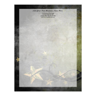Grunge Stars Vintage Design Letterhead