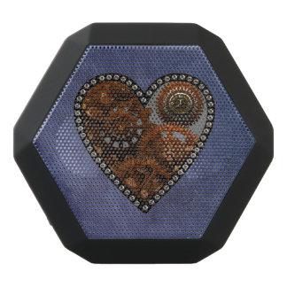 Grunge Steampunk Clocks and Gears Heart Black Bluetooth Speaker
