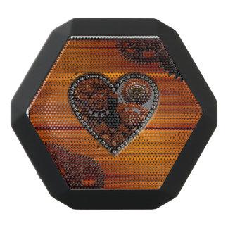 Grunge Steampunk Clocks and Gears Key Heart Box Black Bluetooth Speaker