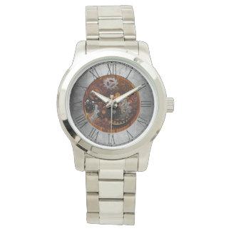 Grunge Steampunk Clocks and Gears Wrist Watches