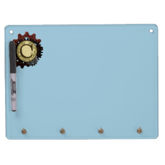 Grunge Steampunk Gears Monogram Letter C Dry Erase Board With Keychain Holder