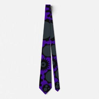 Grunge Steampunk Gears Neck Tie