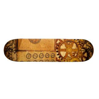 Grunge Steampunk Gears Skateboard Deck