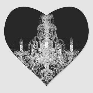 Grunge Steampunk Gothic Rustic Chandelier Heart Sticker