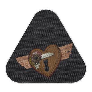 Grunge Steampunk Heart Speaker