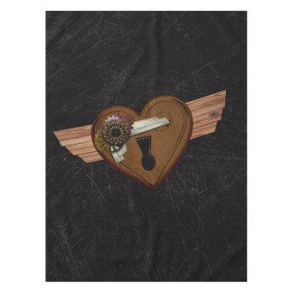 Grunge Steampunk Heart Tablecloth