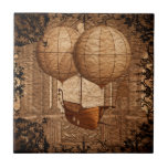 "Grunge Steampunk Victorian Airship Ceramic Tile<br><div class=""desc"">This is a beautiful grunge steampunk design that makes the perfect gift.</div>"