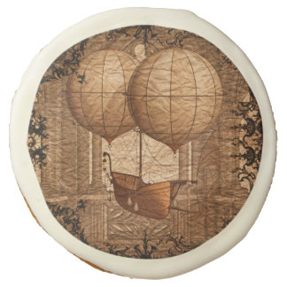 Grunge Steampunk Victorian Airship Sugar Cookie