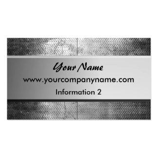 Grunge Steel Metal Business Cards