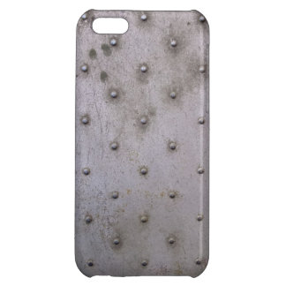 Grunge Steel Sheet with Rivets Case For iPhone 5C