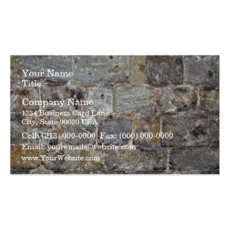 Grunge Stone Wall With Irregular Stones Business Card