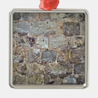 Grunge Stone Wall With Irregular Stones Christmas Tree Ornament