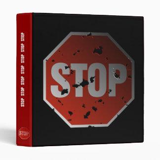 Grunge 'STOP' sign - Binder