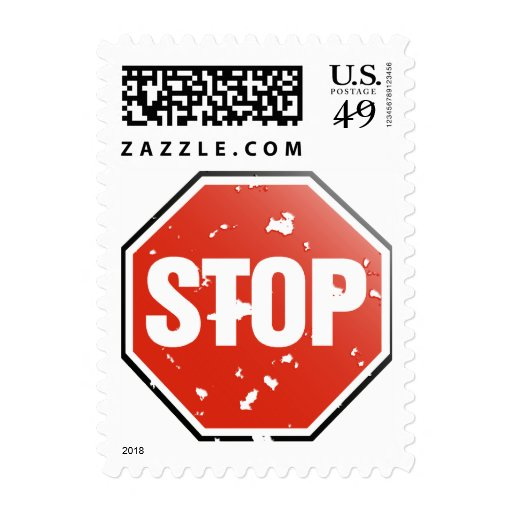 Grunge 'STOP' sign - Postage