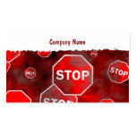 Grunge Stop Signs, Company Name Business Card Template