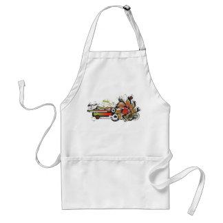 grunge strawberry adult apron