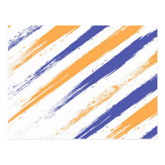 Grunge Stripe Postcard