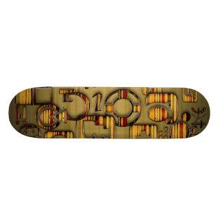 Grunge Striped Media Skateboard Deck
