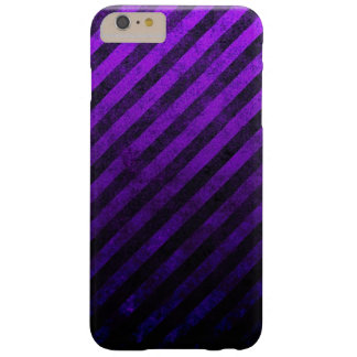 Grunge Striped Purple And Black Phone Case Barely There iPhone 6 Plus Case
