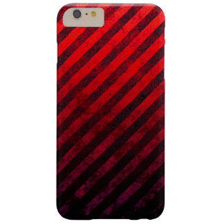 Grunge Striped Red And Black Phone Case Barely There iPhone 6 Plus Case