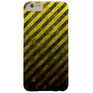 Grunge Striped Yellow And Black Phone Case Barely There iPhone 6 Plus Case