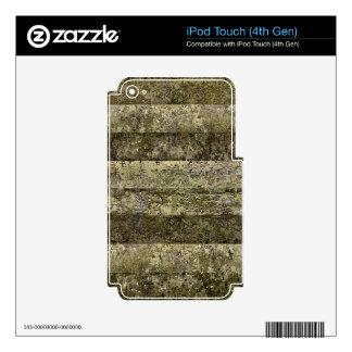 Grunge Stripes Print iPod Touch 4G Skin