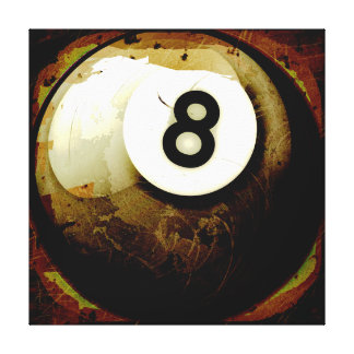 Grunge Style 8 Ball Stretched Canvas Prints