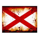 Grunge Style Alabama Flag Postcard