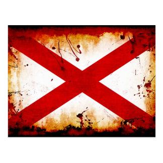 Grunge Style Alabama Flag Post Card
