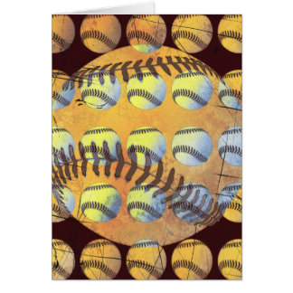 Grunge Style Baseball Collage Card