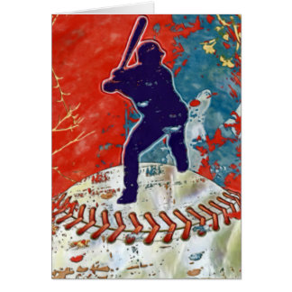 Grunge Style Baseball Design Card