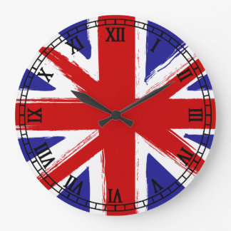 Grunge Style British Flag Clocks