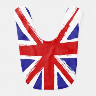 Grunge Style British Union Jack Flag Baby Bib