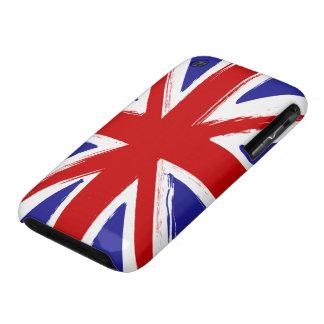 Grunge Style British Union Jack Flag iPhone 3 Cover