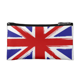 Grunge Style British Union Jack Flag  S Cosmetic Cosmetic Bag