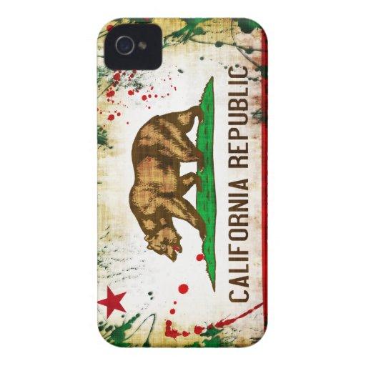 Grunge Style California Flag iPhone 4 Case
