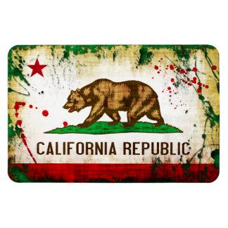 Grunge Style California Flag Magnet