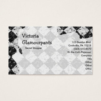 Grunge Style Checks Business Card