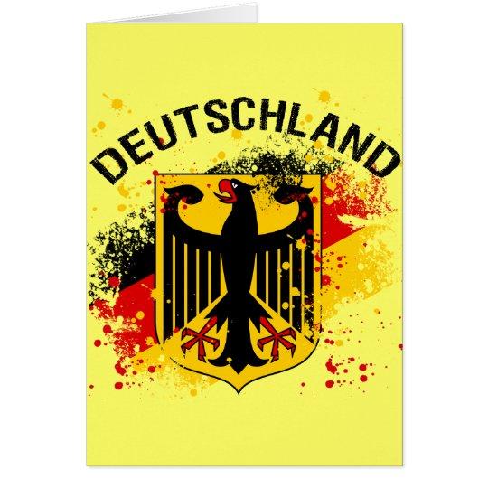 Grunge style Deutschland - Germany Design Card