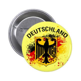 Grunge style Deutschland - Germany Design Pinback Button