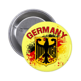 Grunge Style Germany Coat of Arms and Flag Pinback Button
