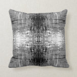 Grunge Style, Gray Abstract. Pillows