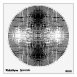Grunge Style, Gray Abstract. Wall Graphic