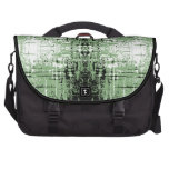 Grunge Style Green Abstract. Commuter Bag